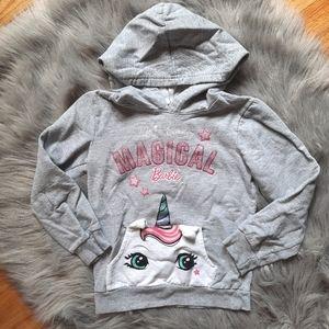 💛3/$21 Barbie Unicorn Pullover Hoodie Sweater
